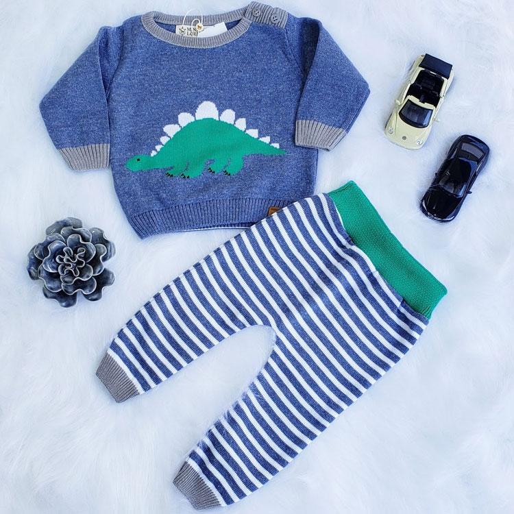 Conjunto de tricô looks de inverno para crianças Marbella Infantil It Mãe