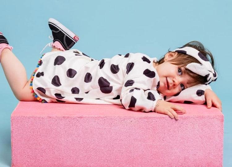 Vestido manga longa Marbella infantil It Mãe