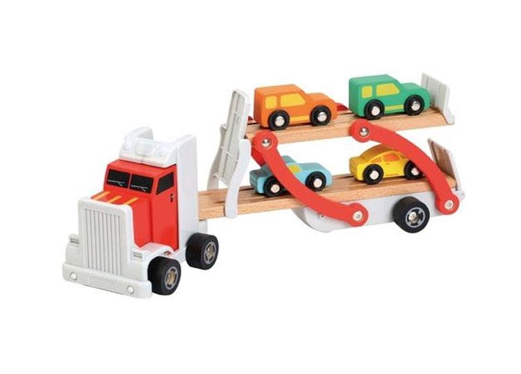 Caminhão de carrinhos brinquedos ideais para cada idade Góin Góin It Mãe