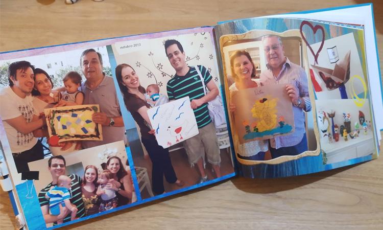 Exposição de desenhos e trabalhos das crianças para a família
