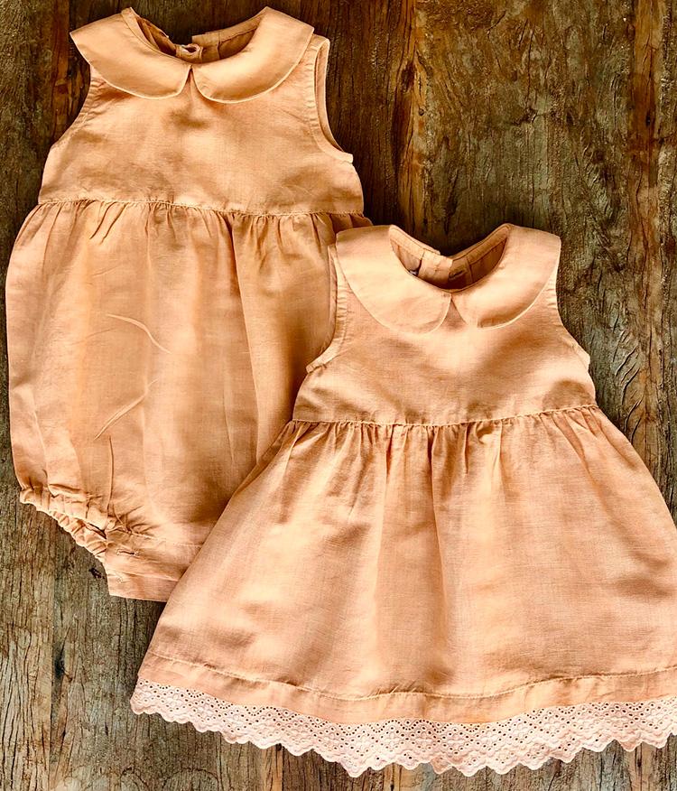Vestido para menina com tingimento natural BioBambini - It Mãe