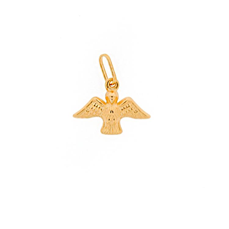 Presente batizado Mini La Joie - pingente ouro Divino Espírito Santo - It Mãe
