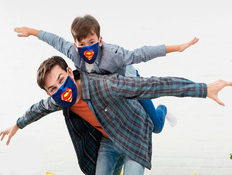 Máscara de proteção pai e filho Amo Lembrancinhas - It Mãe