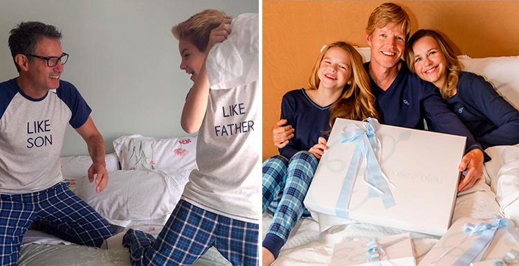 Pijama Pai e filhos Rose & Bleu - It Mãe