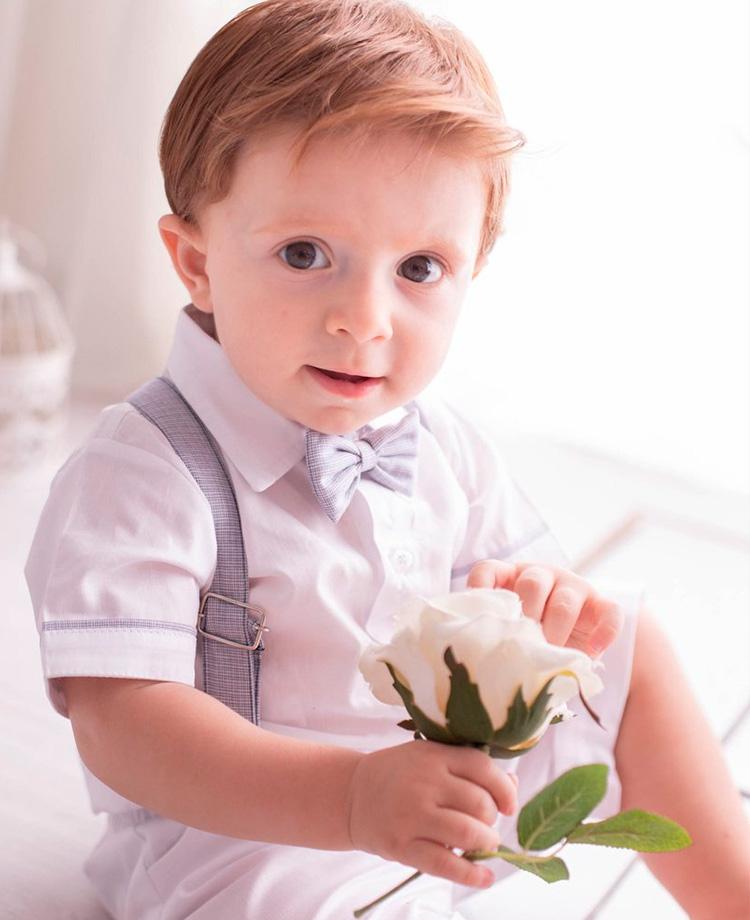 Conjunto Blue roupa batizado menino Bless My Baby - It Mãe