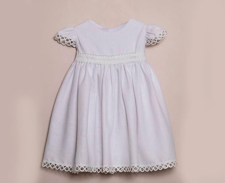 Vestido de linho branco Bless My Baby - It Mãe