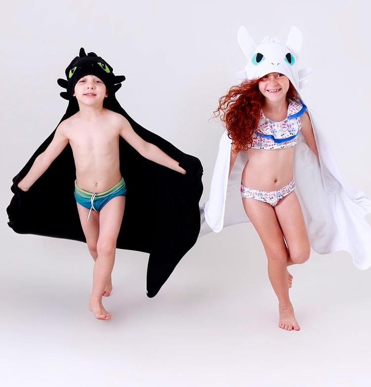 Rotina lúdica toalha infantil Como treinar o seu dragão Eumini - It Mãe