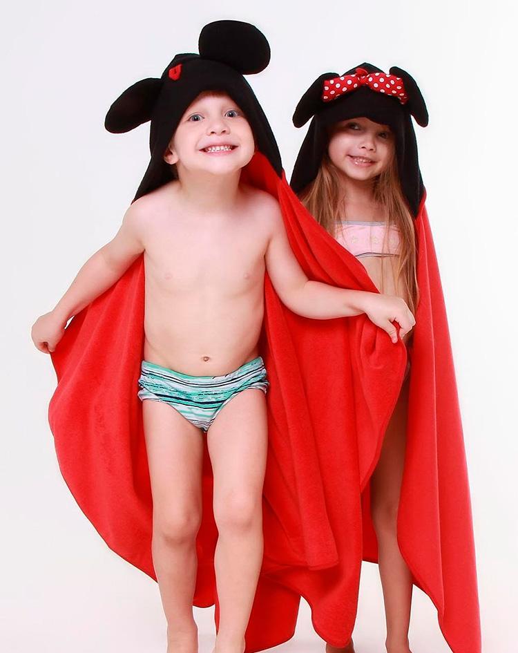 Rotina lúdica toalha infantil mickey e minnie Eumini - It Mãe