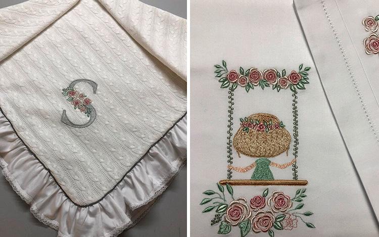 Produtos artesanais para enxoval  Ponto Por Ponto - It mãe