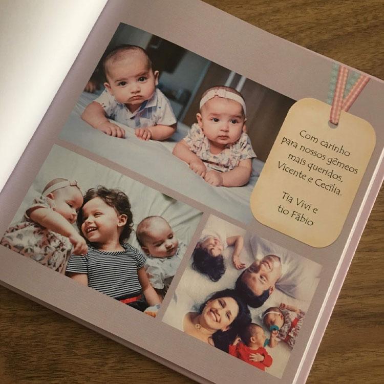 Dia das crianças meu fotolivro álbum do bebê