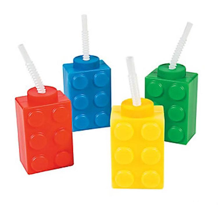 Copo Lego decoração para o Dia das Crianças Rica Festa It Mãe