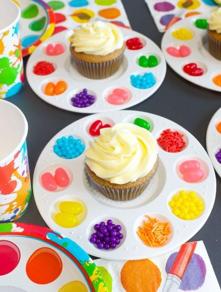 Cupcakes decorados decoração para o dia das crianças Rica Festa It Mãe