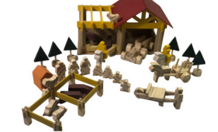 Fazendinha de madeira dia das crianças gemini jogos it mãe