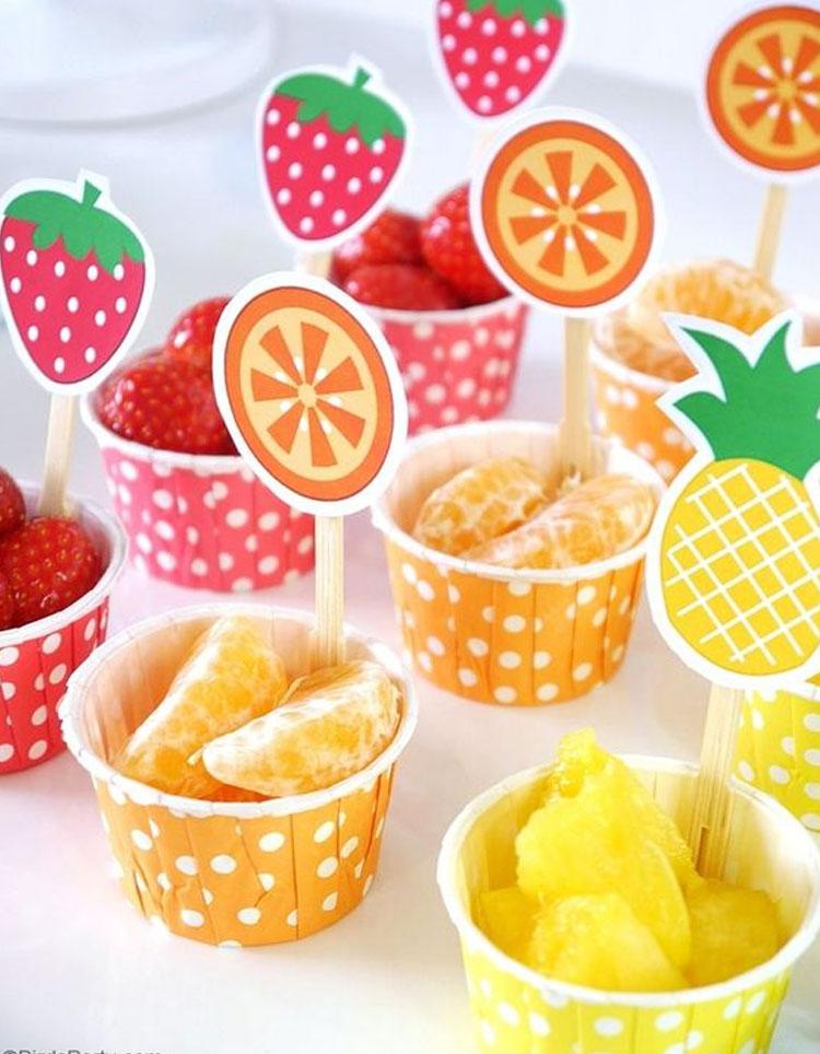Frutas decoração para o dia das crianças Rica Festa It Mãe