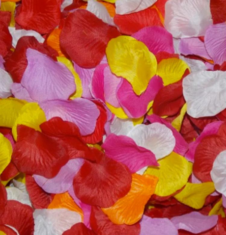 Decoração para festa luau: pétalas sortidas - Rica Festa