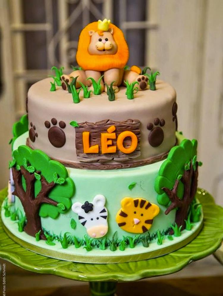 Bolo decorado Festa Safari Rica Festa - It Mãe