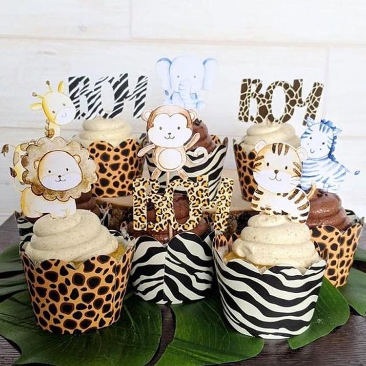 Cupcakes Festa Safari Rica Festa - It Mãe
