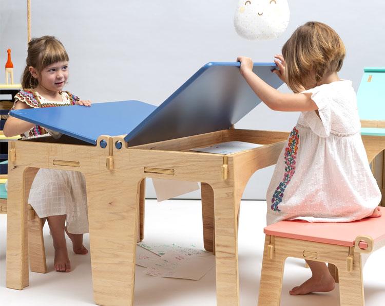 Mesa de estudos dia das crianças lilu design