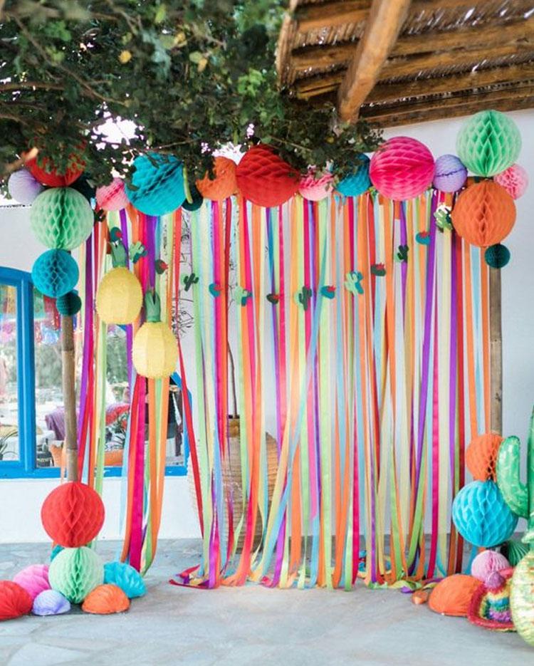 Painel colorido decoração para o dia das crianças Rica Festa It Mãe