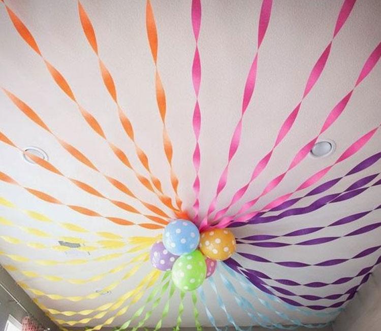 Teto colorido decoração para o dia das crianças Rica Festa It Mãe