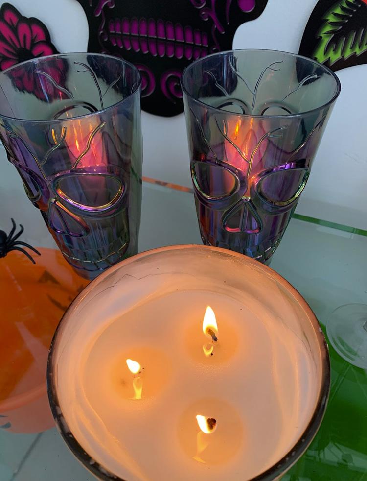 Velas Halloween em casa Rica Festa - It Mãe