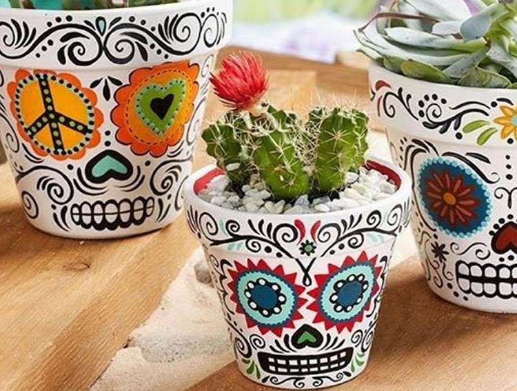 Vasos coloridos Festa mexicana em casa Mi Casa It  Mãe