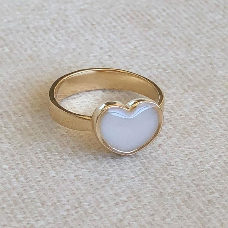 anel coração presente para família joia de leite it mãe