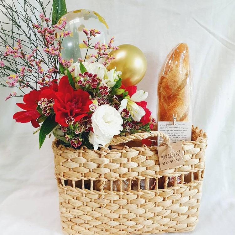 cesta romântica presente de natal para família afeto na cesta it mãe