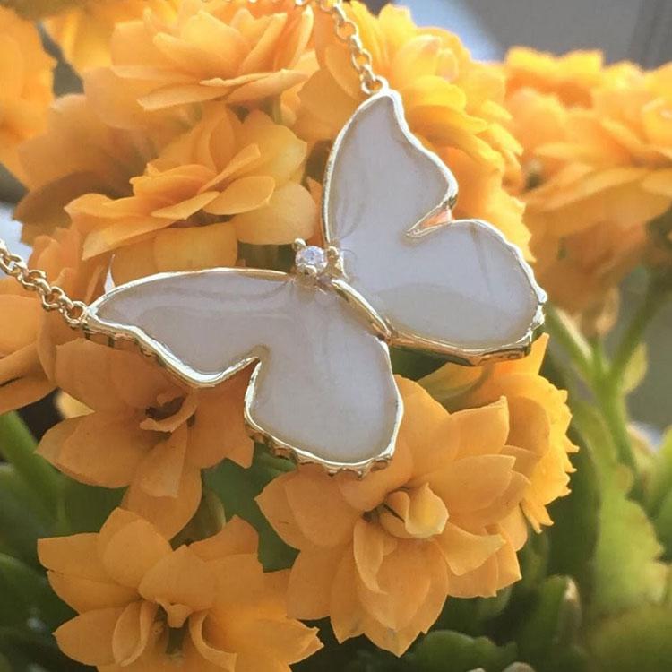 colar borboleta joia de leite it mãe