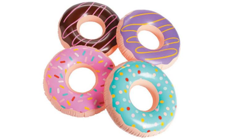 Donut Plástico Sortido Unitario para festa praia - Rica Festa It Mãe