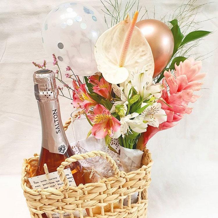 cesta rosé dezembro mais feliz afeto na cesta it mãe