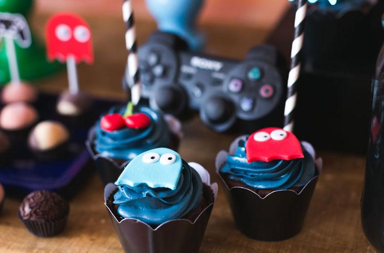 cupcakes festa pac-man bella idea it mãe