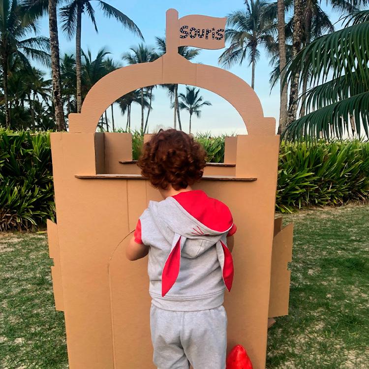 Colete coelhinho vermelho Looks divertidos para crianças Souris Kids - It Mãe