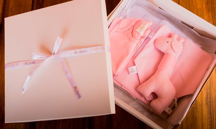 Kit Maternidade Rosa Blessed Maternity Presentes a distância Natal 2020 - It Mãe
