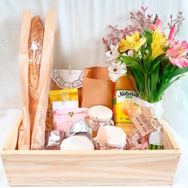 Café da manhã aniversário Afeto na cesta Presentes a distância Natal 2020 - It Mãe