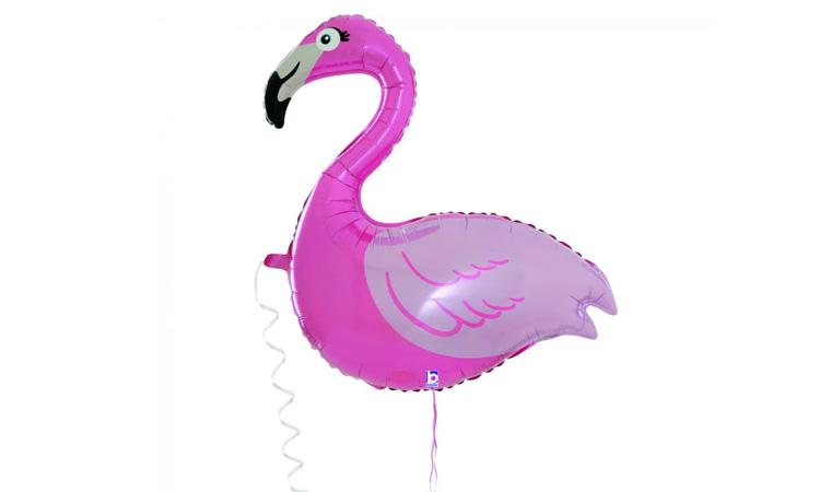 Decoração para festa luau: balão flamingo - Rica Festa