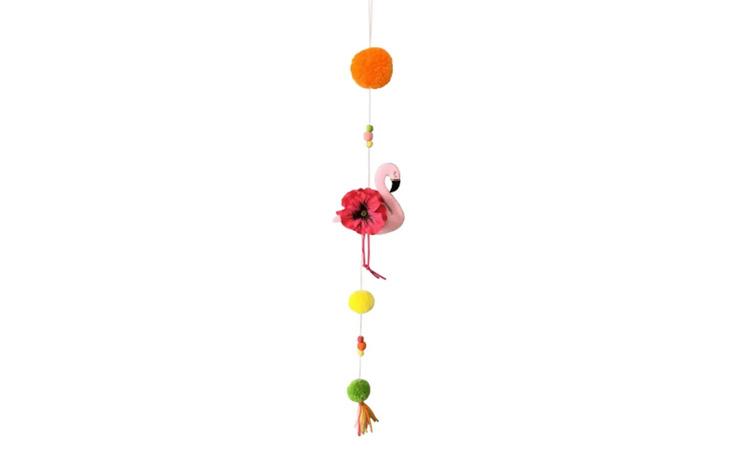 Decoração para festa luau: pendente flamingo - Rica Festa