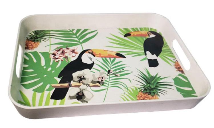 Decoração para festa luau: bandeja tropical - Rica Festa