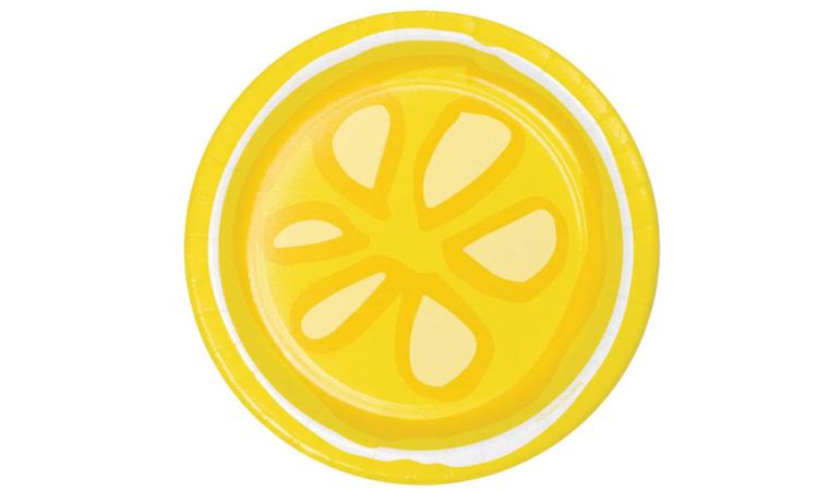 Decoração para festa luau: prato lemonade - Rica Festa