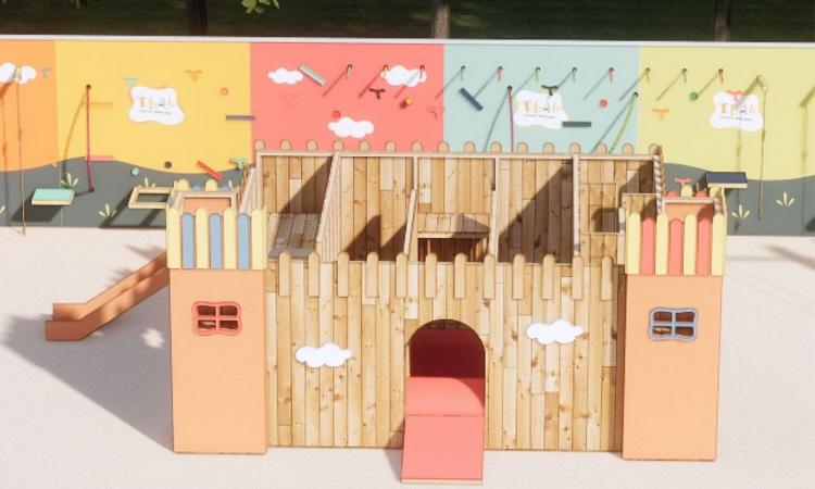 Castelinho para parquinho no quintal Eba! Play - It Mãe