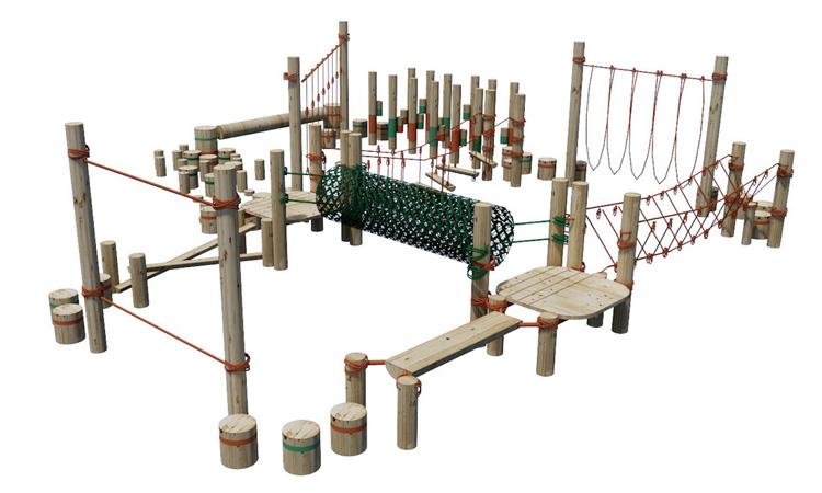 Circuito aventura para parquinho no quintal Eba! Play - It Mãe