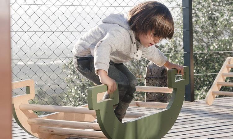 Gangorra Pikler para parquinho no quintal Eba! Play - It Mãe