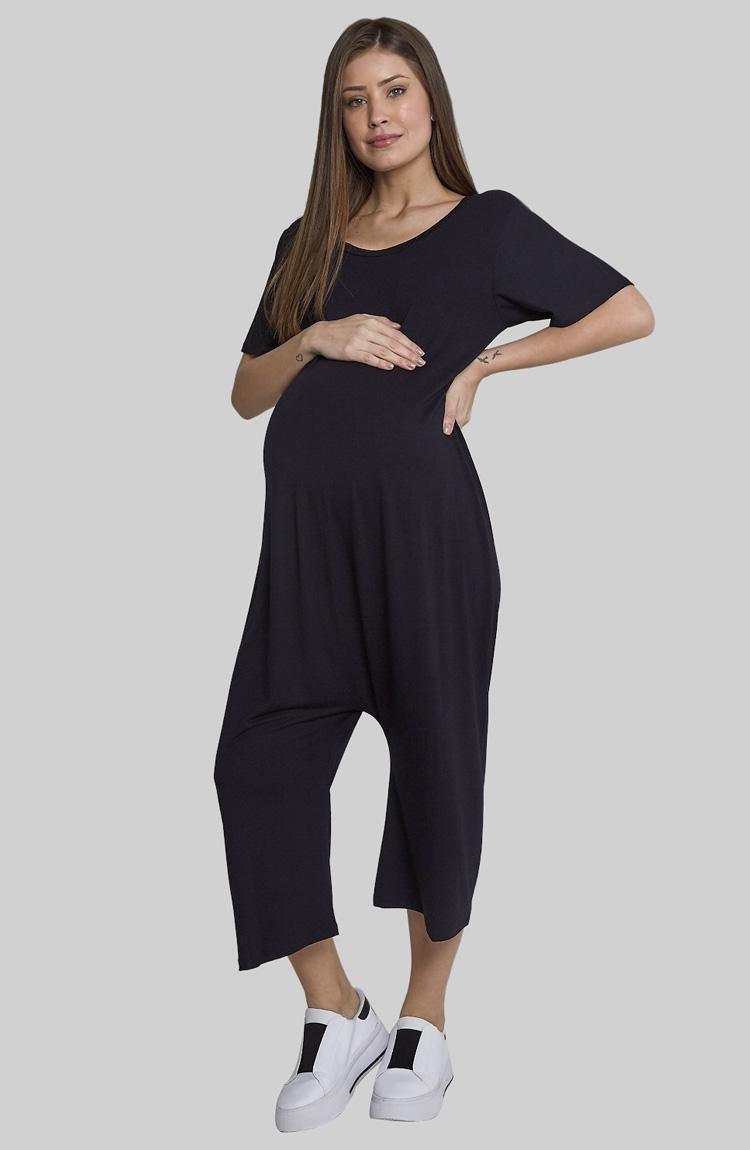 Macacão confortável guarda-roupa para gestante Moda Melancia - It Mãe