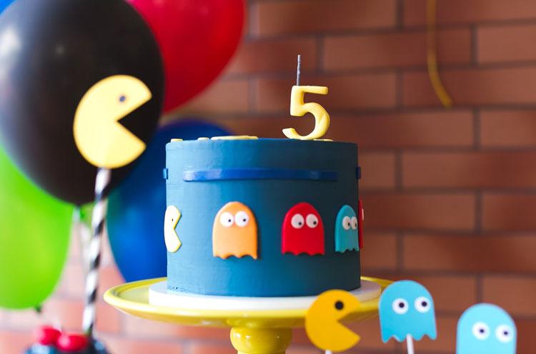mini bolo festa pac-man bella idea it mãe