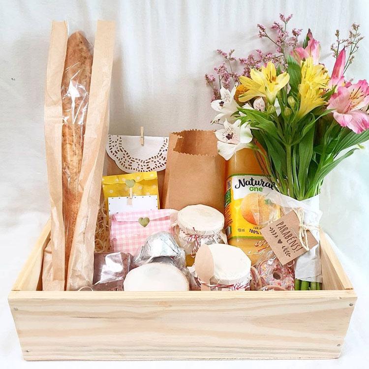 cesta de café da manhã afeto na cesta it mãe
