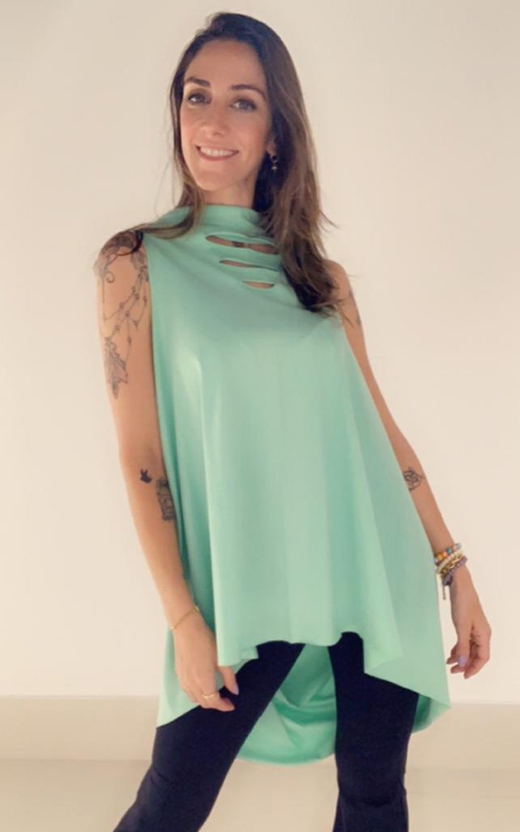Moda Melancia - Blusa Gestante Carambola Verde - It Mãe