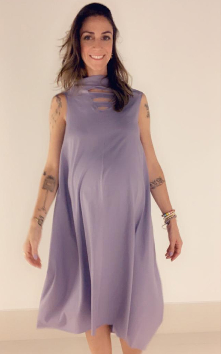Moda Melancia - Vestido Gestante Carambola Lavanda - It Mãe