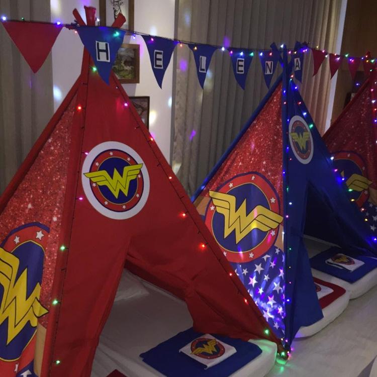 Festa do pijama super-heróis Mulher Maravilha - It Mãe