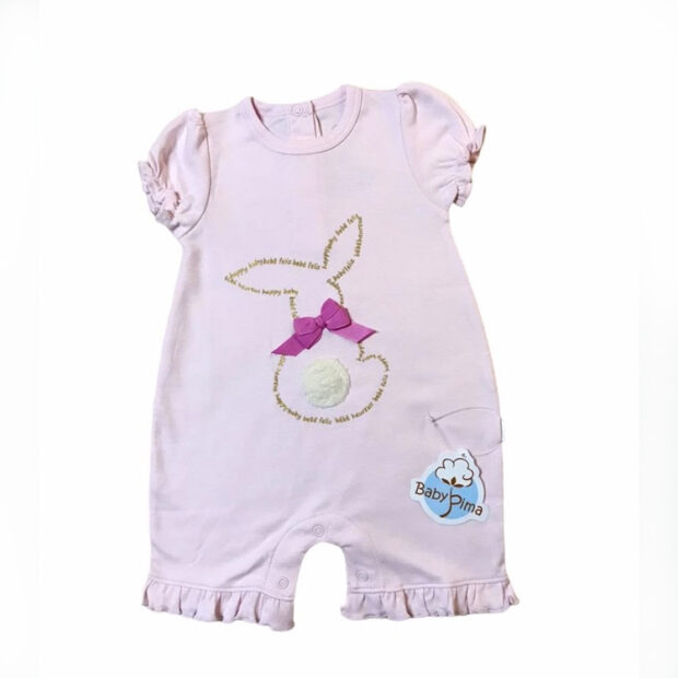 Macacão coelho menina Baby Pima - It Mãe