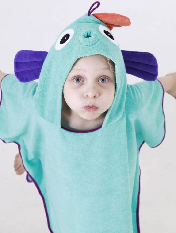 toalha de peixe azul eumini it mãe